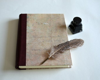 Handmade hard cover journal, organic sketchbook, book of shadows, writing journal, diary, notebook with a vintage look