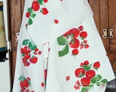 3 Vintage Kitchen Linens, Dish or Hand Towels with Strawberries! Retro Decor Wilendur Style