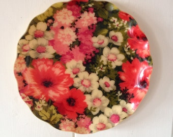 Vintage Fabric Tray or Wall Hanging