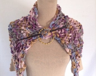 Fairy Wings Shrug, Wrap, Textured Multicolor Capelet, Shoulder Shawl, Mini Shawl, Stole