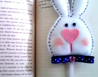 White Bunny Bookmark
