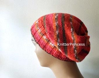 Womens hat,slouchy hat, handmade knitting hat, fall fashion, boho style hat