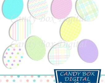 80% OFF SALE Easter Egg Clipart, Spring Clip Art - Commercial Use OK