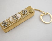 Vintage Address book Key Chain - Wiesner of Miami