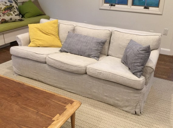 6 Cushions Sofa - Over 61 inches - Your Sofa with a Custom-Designed Cover - 3 Seat & 3 Back Cushions