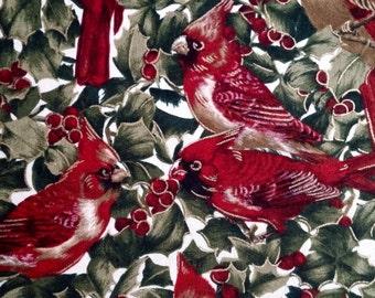 Noel Cardinal Fabric by Sentimental Studios for Moda 2 yd x 44 in