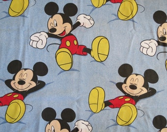 Vintage Childrens Sheet - Disney Mickey Mouse - Single or Twin Vintage Sheet