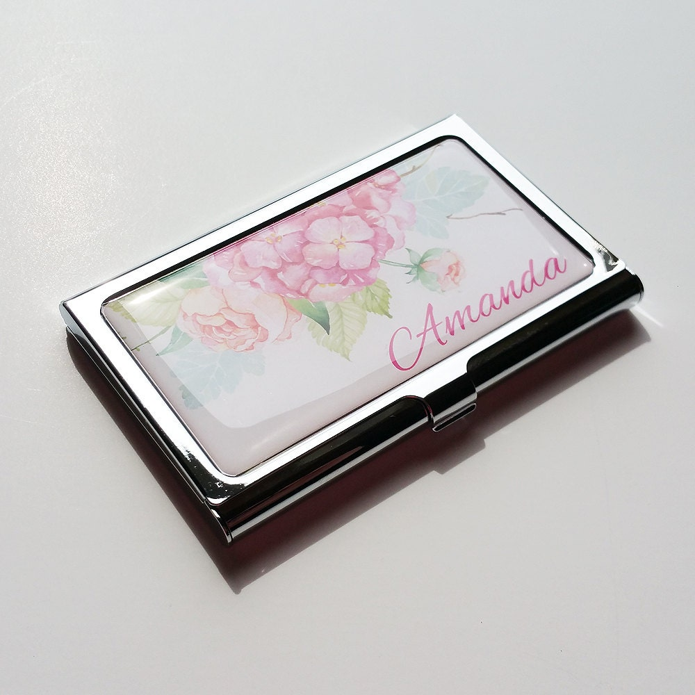 Personalized business card holder flower business card case for Custome business cards