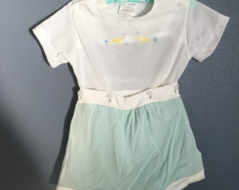 1940s Two Piece Baby Romper