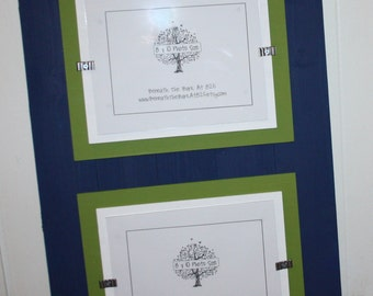double 8x10 picture frame smooth wood double mats holds 2 8x10 photos - Double 8x10 Picture Frame