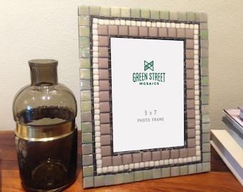 5 x 7 Mosaic Picture Frame, Photo Frame, Neutral Home Decor