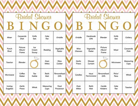 60 Bridal Bingo Cards Blank Amp 60 Prefilled Cards