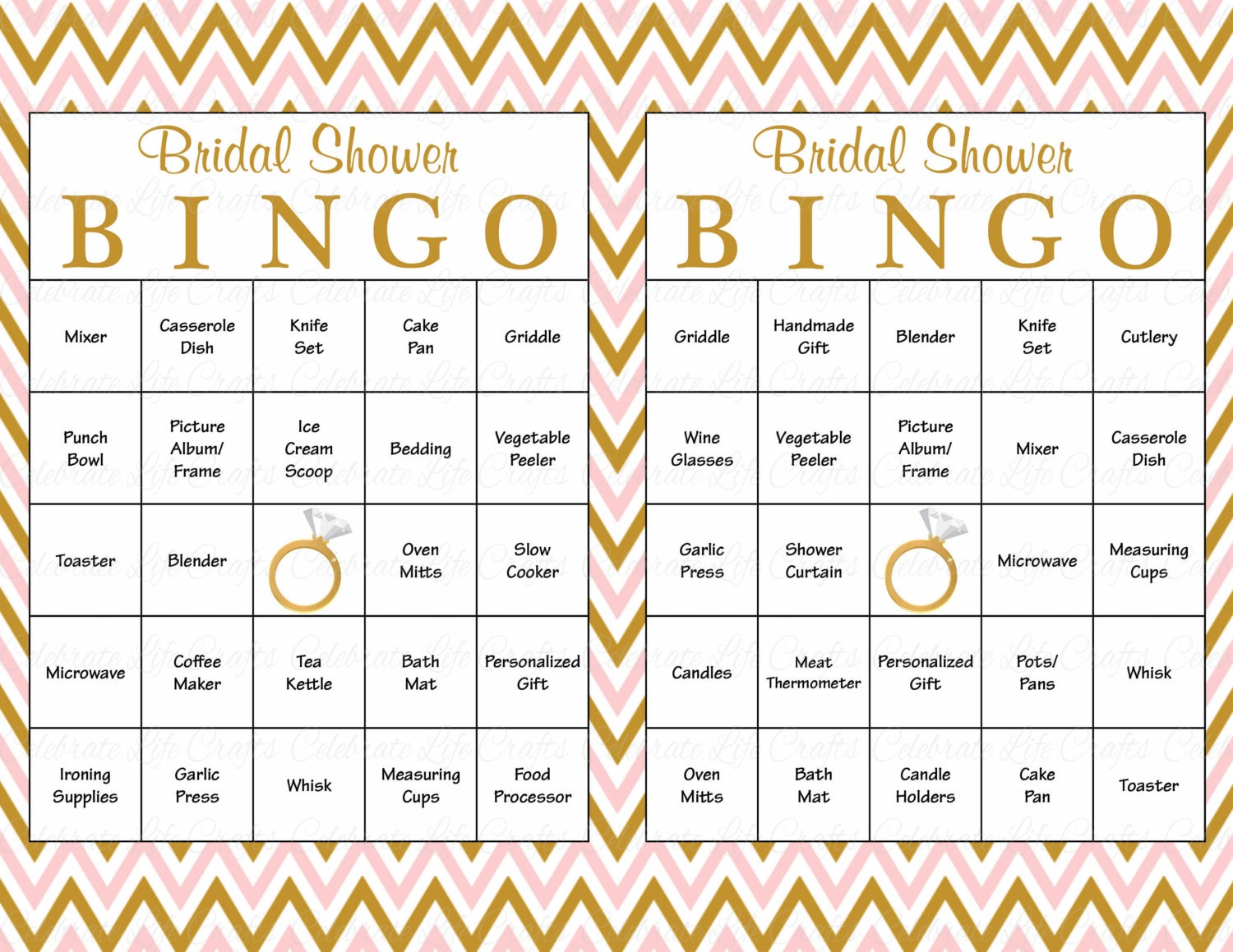Declarative image for printable bridal bingo