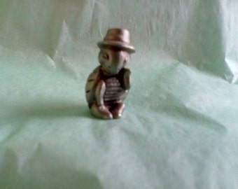 Pewter Turtle in Top Hat