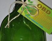 Green  Flat Melting Wine Bottle, Food Tray Flat Bottle,Melting Bottles