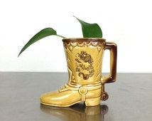 Small Planter - Vintage Las Vegas Ceramic Boot Souvenir