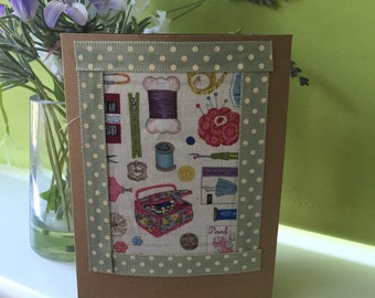 Handmade Greetings Card for those Sewing Lovers
