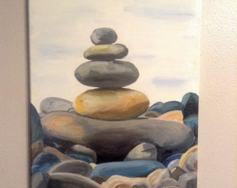 Stacked Rocks painting