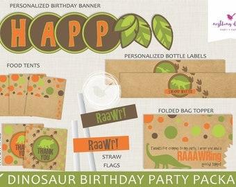 Dinosaur Party Package | Dinosaur Birthday | Dinosaur Party Decorations | Dinosaur Banner | Printable Party Package | Dinosaur Decor | Dino