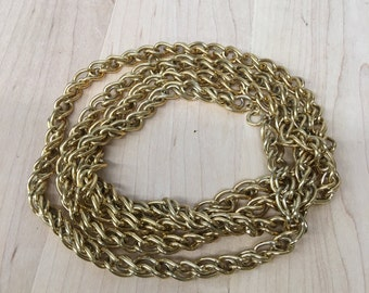 Vintage Gold Tone Chain Necklace 25.5 inches