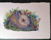 "Bunny- 5x7"" OOAK Original illustration"