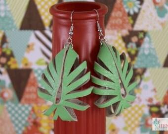 Creme de Menthe Green Boho Chick Earrings