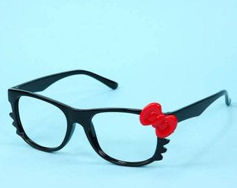 Hello Kitty Glasses Classic Black and Funky blue!