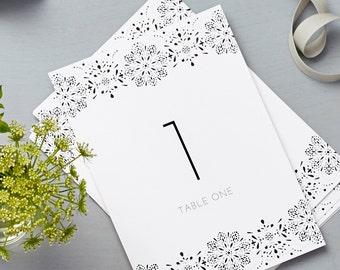 Valentina Design Wedding Table Numbers