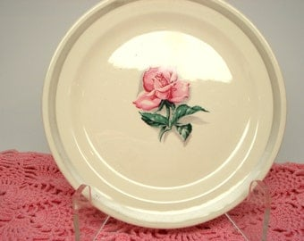 Vintage Dessert Plate Rhythm Rose Taylor Smith Taylor TST Pink Rose Bread Butter Plate Shabby Cottage Chic Vintage Wedding