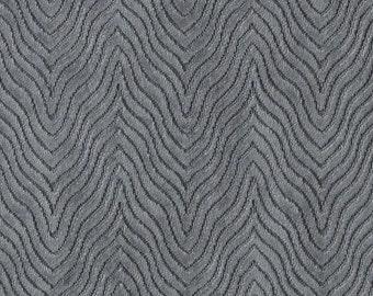 Contemporary Charcoal Grey Velvet Upholstery Fabric - Textured Grey Velvet Pillow Covers - Custom Velvet Pillows - Dark Grey Velvet Fabric
