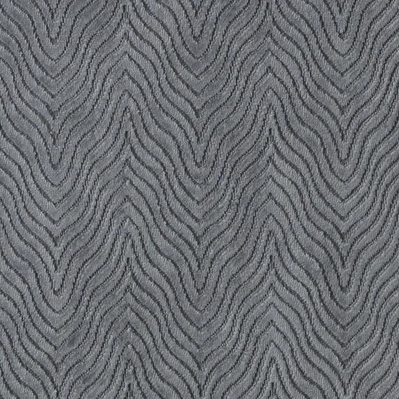 Contemporary Charcoal Grey Velvet Upholstery Fabric Textured