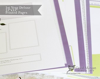 "12""x12"" - Deluxe Baby Book Pack - 70 Pages"