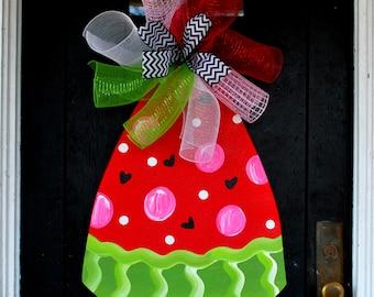 Watermelon Sign, Summer Wreath, Watermelon Wreath, Watermelon Decor, Summer Door Hanger