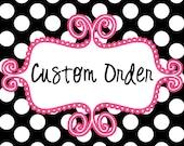 Custom Order - Merrysinger