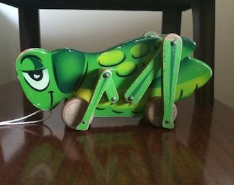 Vintage Grasshopper Pull Toy