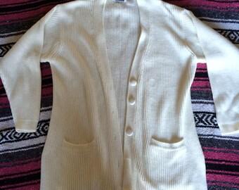 Vintage White Oversized Sweater