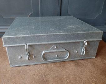 Vintage Aluminum Storage Box, Tackle, Industrial, Office, Organization, Home, Craft, Supplies