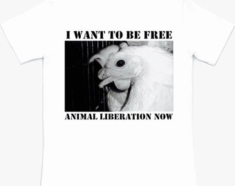 Vegan Tee Animal Liberation Now Small Medium Large XL