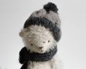 Made To Order Christmas Stuffed Pocket White Teddy Bear Denis Soft Toy Animal