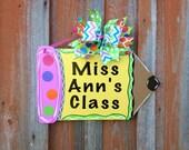 Teachers Gift Teachers Personalized Door Sign Pencil Door Sign School Decor Classroom Decor