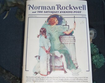 Rare Norman Rockwell Book, Saturday Evening Post ,Very Large Book,108 Photos, The Middle Years  1928 - 1943