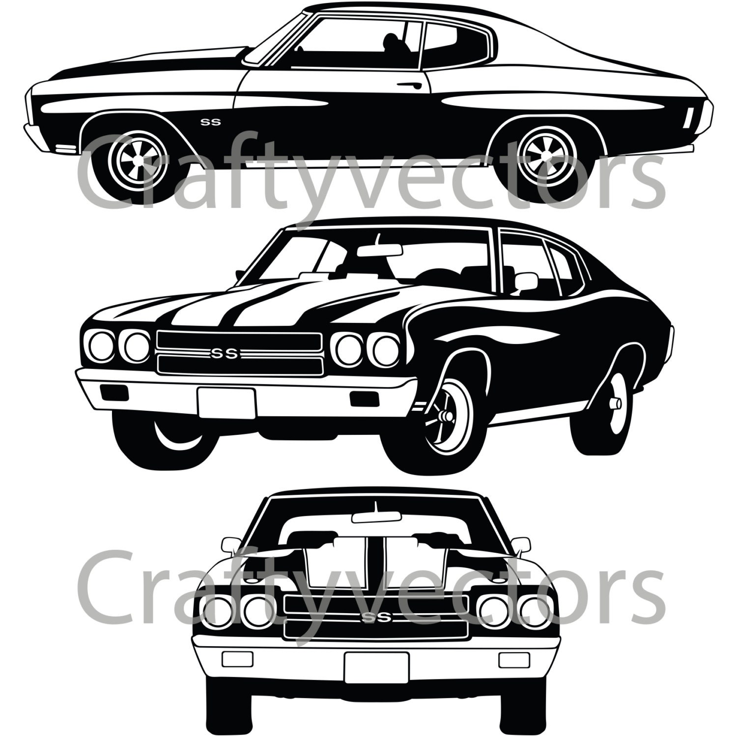 Muscle car drawing outline 13