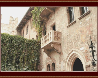 Balcony In Verona Cross Stitch Pattern
