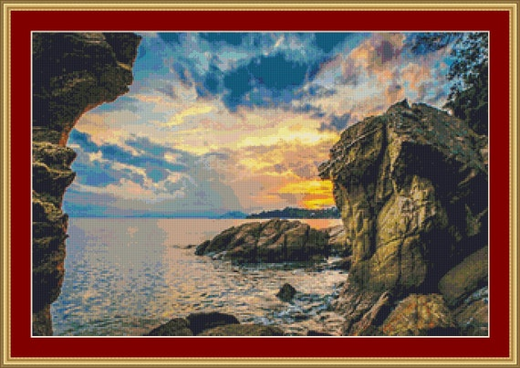 Rocky Coast II Cross Stitch Pattern /Digital PDF Files /Instant downloadable