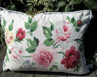 Vintage Laura Ashley Fabric - Roses & Gingham