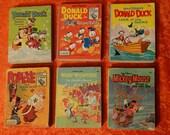 ON SALE TODAY Lot of 6 Vintage Walt Disney Big Little Books Popeye Donald Duck Woody Woodpecker Mickey Mouse Whitman Flip Book