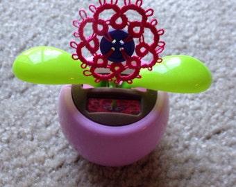Pink dancing solar flower