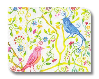 Paper napkin for decoupage, mixed media, collage, scrapbooking x 1. Magical Birds . No 1174