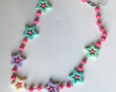Super Cute pastel beaded Kawaii Stars necklace for Magical Babes