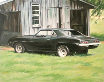 Custom Car Automobile Portrait Painting from Photo - Personalized Fine Art 11x14